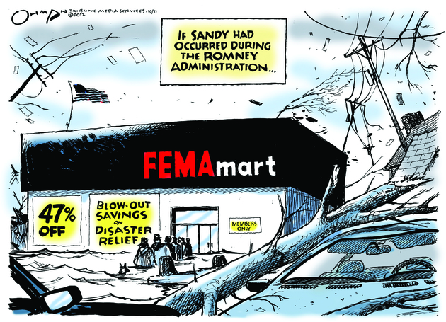 Mitt's FEMA would be as helpful as the customer service department at Home Depot