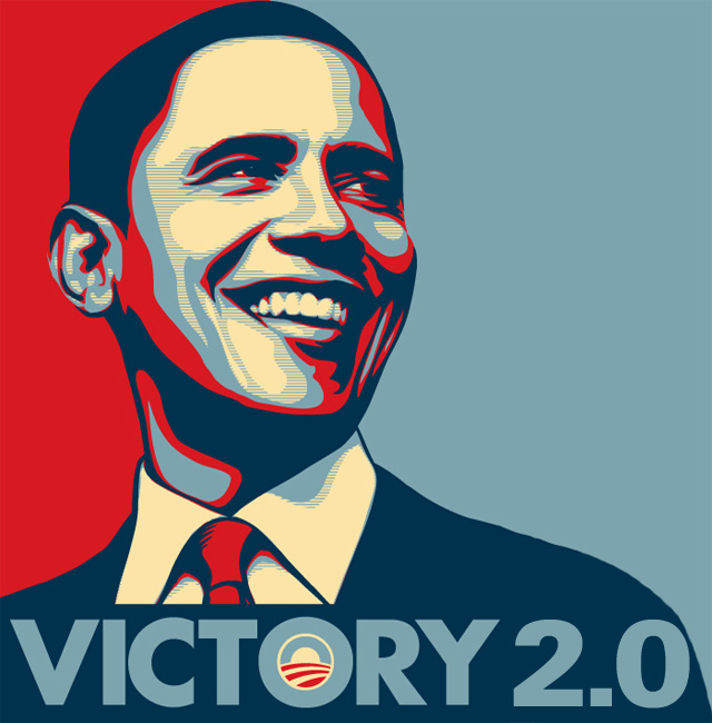 Obama victorious and wins 2012 election