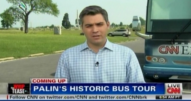 "Palin's ""historic"" bus tour where she butchered historical facts."