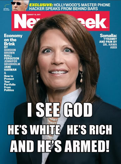 If Bachman wasn't crazy this cover by one of the world's worst people, Tina Brown would have made no sense. Instead it made Newsweak a fortune.