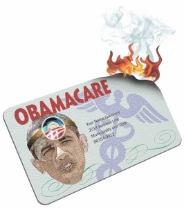 Burn your pretend ObamaCare card to make an imaginary protest against an imaginary problem.