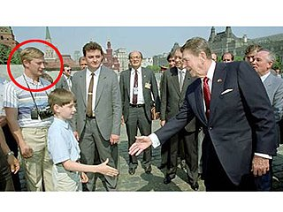 A Young Vladimir Putin meets Ronald Reagan. And yet he wasn't awed to roll over to the West.