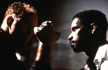 RICOCHET, John Lithgow, Denzel Washington, 1991, (c)Warner Bros.